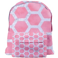 HEXAGON2 WHITE MARBLE & PINK WATERCOLOR Giant Full Print Backpack