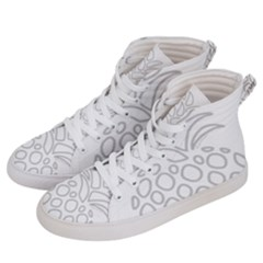 Pinapplesilvergray Women s Hi Top Skate Sneakers by BohoRainbow