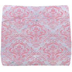 Damask1 White Marble & Pink Watercolor (r) Seat Cushion by trendistuff