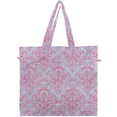 Damask1 White Marble & Pink Watercolor (r) Canvas Travel Bag by trendistuff