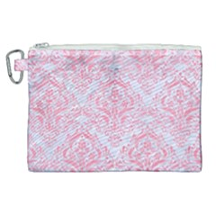 Damask1 White Marble & Pink Watercolor (r) Canvas Cosmetic Bag (xl) by trendistuff