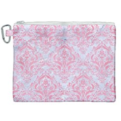 Damask1 White Marble & Pink Watercolor (r) Canvas Cosmetic Bag (xxl) by trendistuff