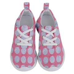 Circles1 White Marble & Pink Watercolor Running Shoes
