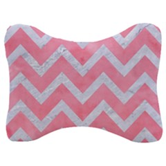 Chevron9 White Marble & Pink Watercolor Velour Seat Head Rest Cushion by trendistuff
