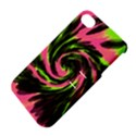 Swirl Black Pink Green Apple iPhone 4/4S Hardshell Case with Stand View4