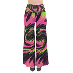 Swirl Black Pink Green So Vintage Palazzo Pants by BrightVibesDesign