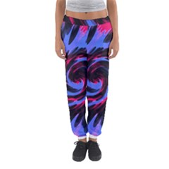 Swirl Black Blue Pink Women s Jogger Sweatpants by BrightVibesDesign