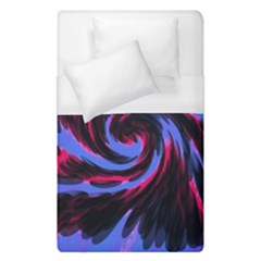 Swirl Black Blue Pink Duvet Cover (single Size) by BrightVibesDesign