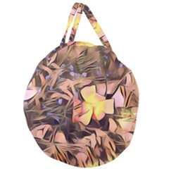 Spring Flowers Giant Round Zipper Tote