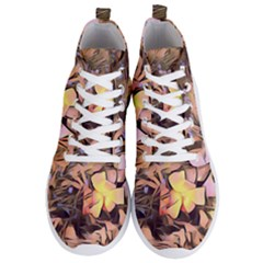 Spring Flowers Men s Lightweight High Top Sneakers