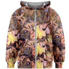 Spring Flowers Kids Zipper Hoodie Without Drawstring
