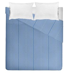 Mod Twist Stripes Blue And White Duvet Cover Double Side (queen Size) by BrightVibesDesign