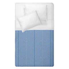 Mod Twist Stripes Blue And White Duvet Cover (single Size) by BrightVibesDesign