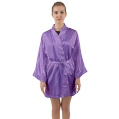 Mod Twist Stripes Purple And White Long Sleeve Kimono Robe by BrightVibesDesign