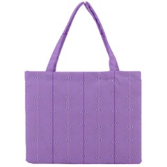 Mod Twist Stripes Purple And White Mini Tote Bag by BrightVibesDesign
