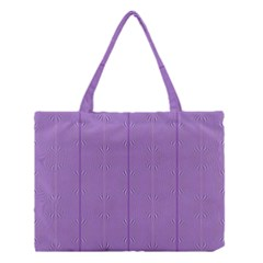 Mod Twist Stripes Purple And White Medium Tote Bag by BrightVibesDesign