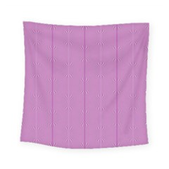 Mod Twist Stripes Pink And White Square Tapestry (small) by BrightVibesDesign