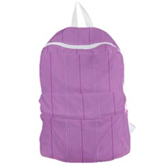 Mod Twist Stripes Pink And White Foldable Lightweight Backpack