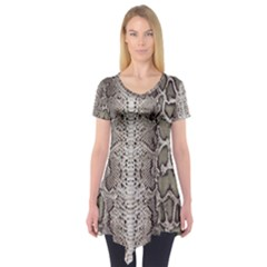 Snake Skin Short Sleeve Tunic  by LoolyElzayat
