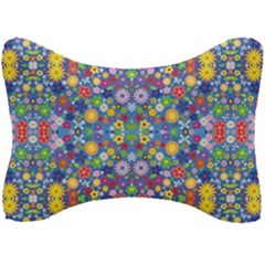 Colorful Flowers Seat Head Rest Cushion