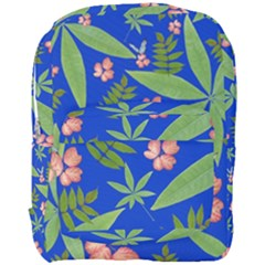 Leaves On Blue Full Print Backpack by LoolyElzayat