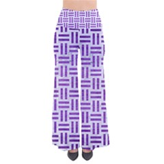 Woven1 White Marble & Purple Brushed Metal (r) So Vintage Palazzo Pants by trendistuff