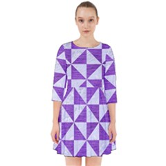 Triangle1 White Marble & Purple Brushed Metal Smock Dress by trendistuff