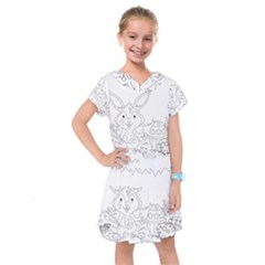 Coloring Picture Easter Easter Bunny Kids  Drop Waist Dress