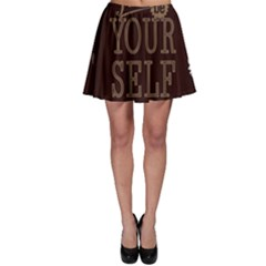 Encourage Motivation Tackle Things Skater Skirt