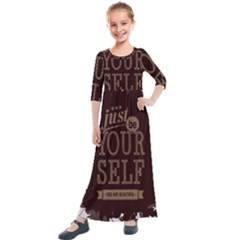 Encourage Motivation Tackle Things Kids  Quarter Sleeve Maxi Dress