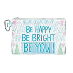 Motivation Positive Inspirational Canvas Cosmetic Bag (large) by Sapixe
