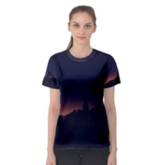 Nature Night Colorful Landscape Women s Sport Mesh Tee