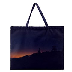 Nature Night Colorful Landscape Zipper Large Tote Bag