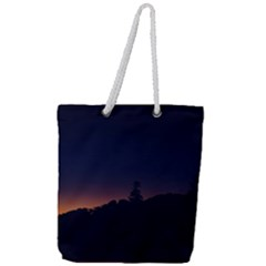 Nature Night Colorful Landscape Full Print Rope Handle Tote (large)