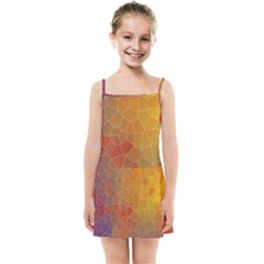 Colors Modern Contemporary Graphic Kids Summer Sun Dress