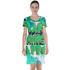 Gears Gear Interaction Act Do Short Sleeve Nightdress by Sapixe