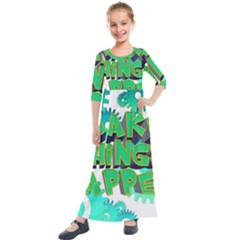 Gears Gear Interaction Act Do Kids  Quarter Sleeve Maxi Dress
