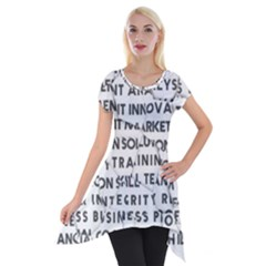 Success Business Professional Short Sleeve Side Drop Tunic