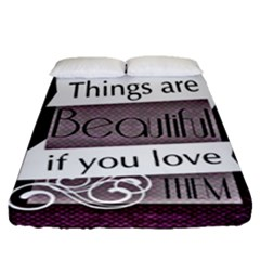 Beautiful Things Encourage Fitted Sheet (queen Size) by Sapixe