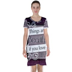 Beautiful Things Encourage Short Sleeve Nightdress by Sapixe