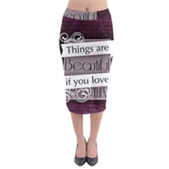 Beautiful Things Encourage Midi Pencil Skirt by Sapixe