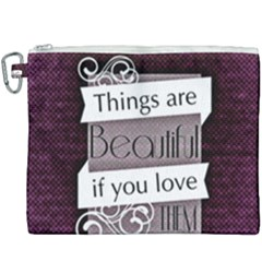 Beautiful Things Encourage Canvas Cosmetic Bag (xxxl)