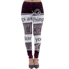 Beautiful Things Encourage Lightweight Velour Leggings