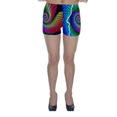 Head Spiral Self Confidence Skinny Shorts by Sapixe