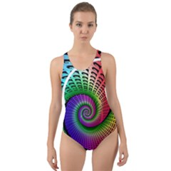 Head Spiral Self Confidence Cut Out Back One Piece Swimsuit