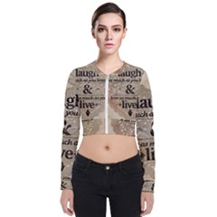 Motivational Calligraphy Grunge Bomber Jacket