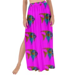 Opposite Way Fish Swimming Maxi Chiffon Tie Up Sarong