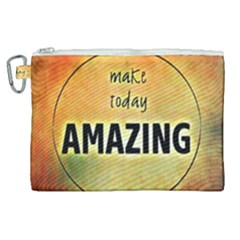 Beautiful Day Cheerful Munter Canvas Cosmetic Bag (xl) by Sapixe