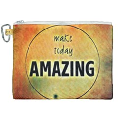 Beautiful Day Cheerful Munter Canvas Cosmetic Bag (xxl)
