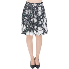 Mindset Neuroscience Thoughts Velvet High Waist Skirt